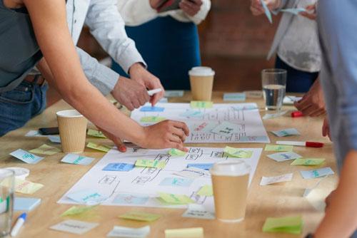 Teamwork Brainstorming Planung